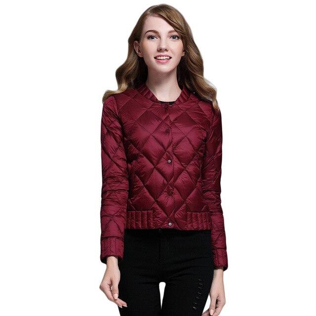 b635531bf32 2018 Winter Women Ultra Light Down Coat Warm White Duck Down Lightweight  Parkas Outwear Female Thin
