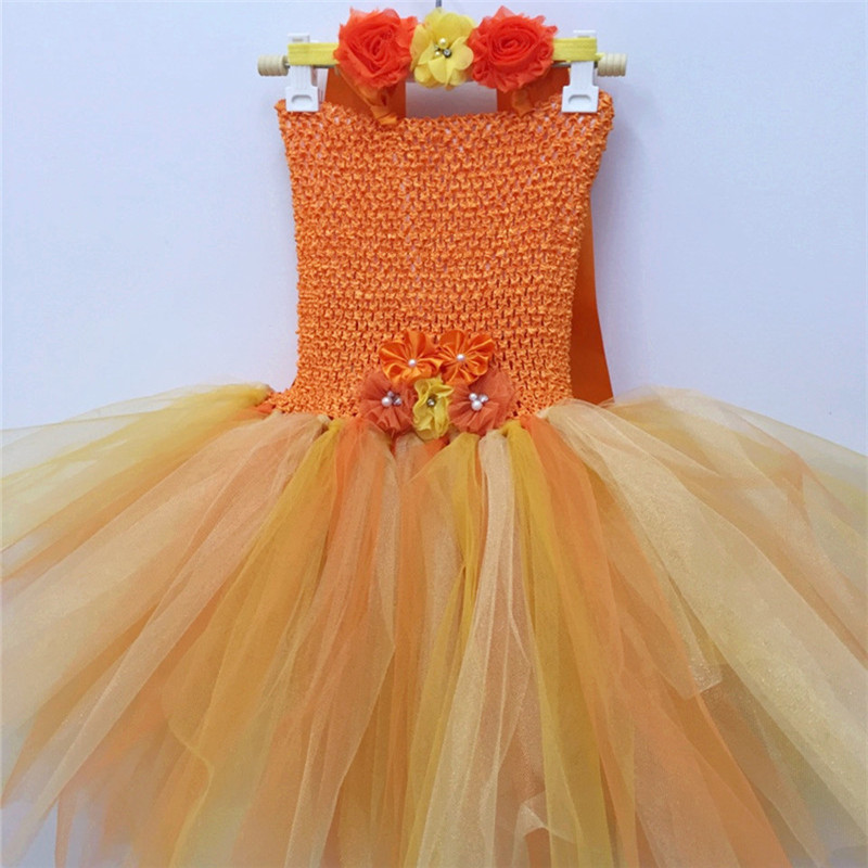 New Gold Tutu Tulle Flower Girl Dress Little Princess Communion Dresses Ball Gown Quality Girls Dress for Wedding Party 4pcs new for ball uff bes m18mg noc80b s04g