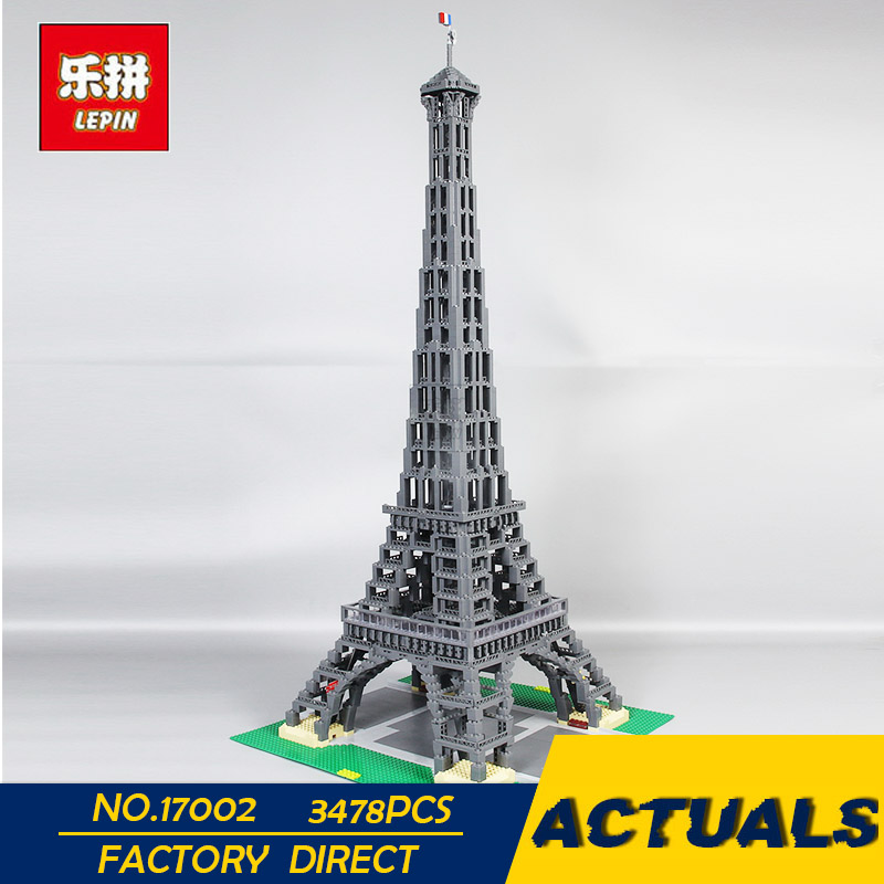 LEPIN 17002 3478pcs City Street The Eiffel Tower Model Building Assembling Brick Toys Compatible 10181