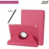 מקרה עבור Huawei MediaPad Tablet M3 לייט 10 סיבוב קייס מגן עבור Huawei M3 לייט 10.0 BAH-W09 BAH-AL00