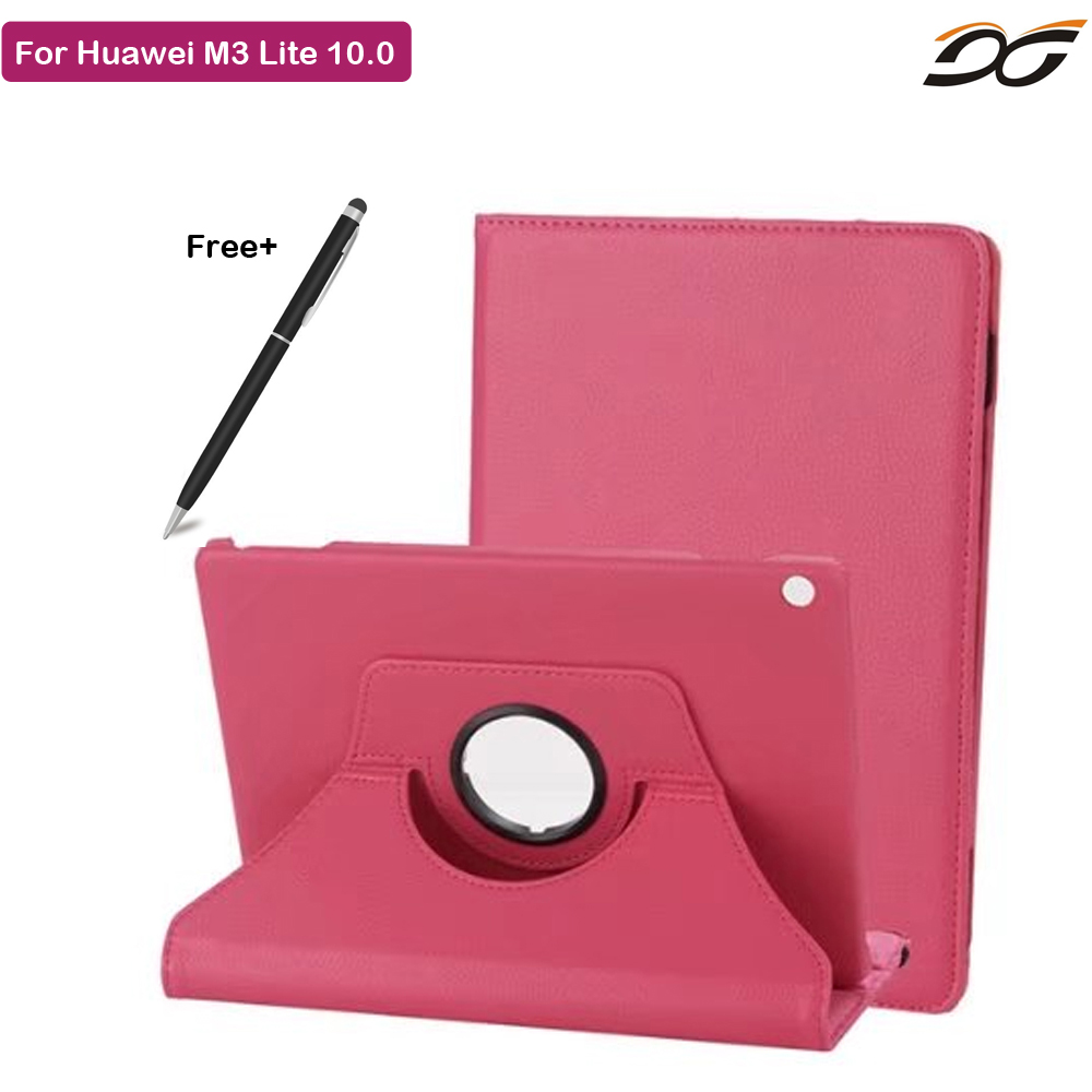 Tablet Case For Huawei MediaPad M3 lite 10 Rotational Protective Case For Huawei M3 LITE 10.0 BAH-W09 BAH-AL00 for huawei mediapad m3 lite 10 case silicone crystal case cover for huawei mediapad m3 lite 10 1 bah w09 bah al00 tablets cover