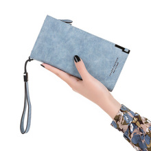 Famous Brand Luxury Wallets Women Long Leather Wallet Female Clutch Purse Ladies Fashion scrub 180