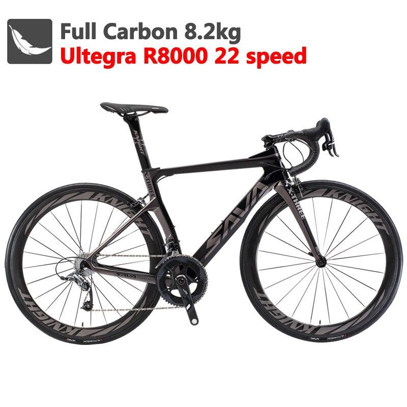SAVA углеродный шоссейный велосипед 700C углеродный гоночный шоссейный велосипед углеродный велосипед с SHIMANO Ultegra R8000 22 скоростной велосипед velo...