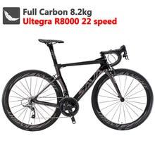 SAVA węgla szosowe 700C węgla rower rower szosowy wyścigowy węgla rower z SHIMANO Ultegra R8000 22 prędkości rower velo de route