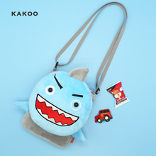 KAKOO Brand Cute Cartoon 3D animal shoulder bag Mini childrens Coin Purses Plush Kids Baby Small messenger