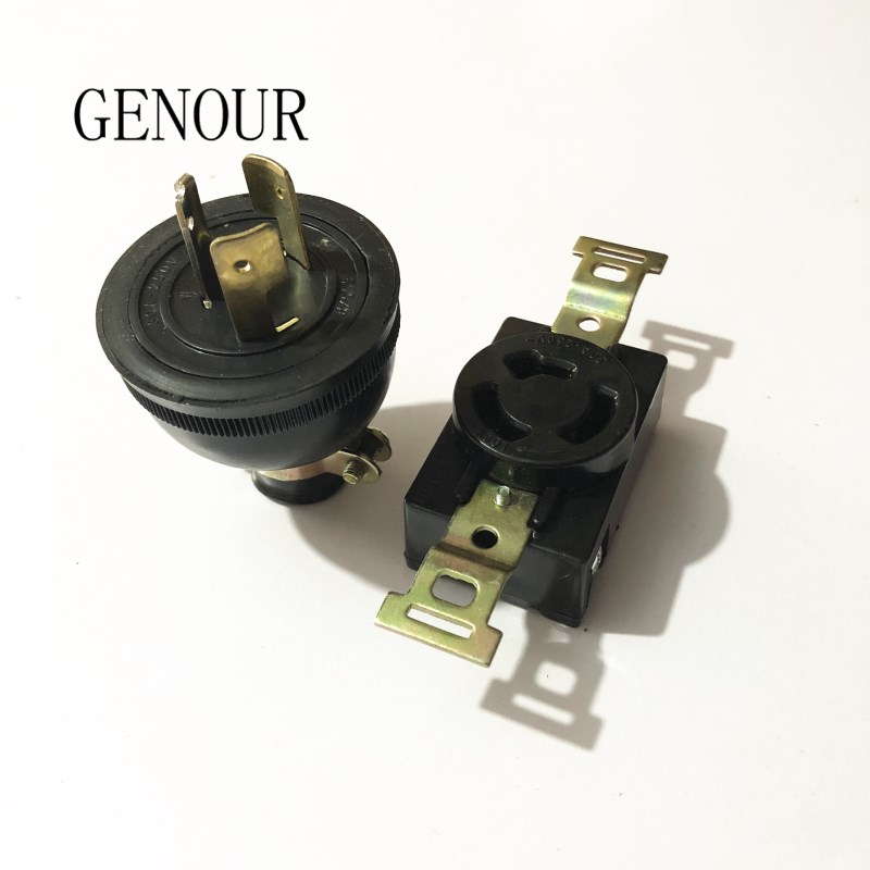 one set LocK socket plug for 2KW 3KW 5KW Gasoline generator accessories,General socket for EC2500,SH2900, EC6500 replacement. цена