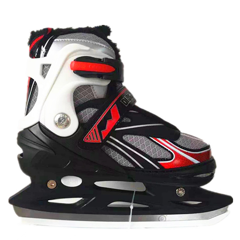 1 Pair Adult Women Children Ice Blade Skates Shoes Adjustable Ice Blade Warm Thermal Adjustable Figure Skating For Girls Boys