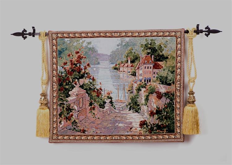 78*96 cm belgique jacquard tenture murale tapisseries style européen paysage décor peinture murale maison textile