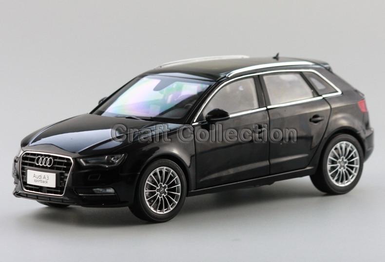 * Black 1:18 Diecast Model Car Audi A3 Sportback SUV 2014 High-end Diecast Vehicle Parts Several Colors Hatch back