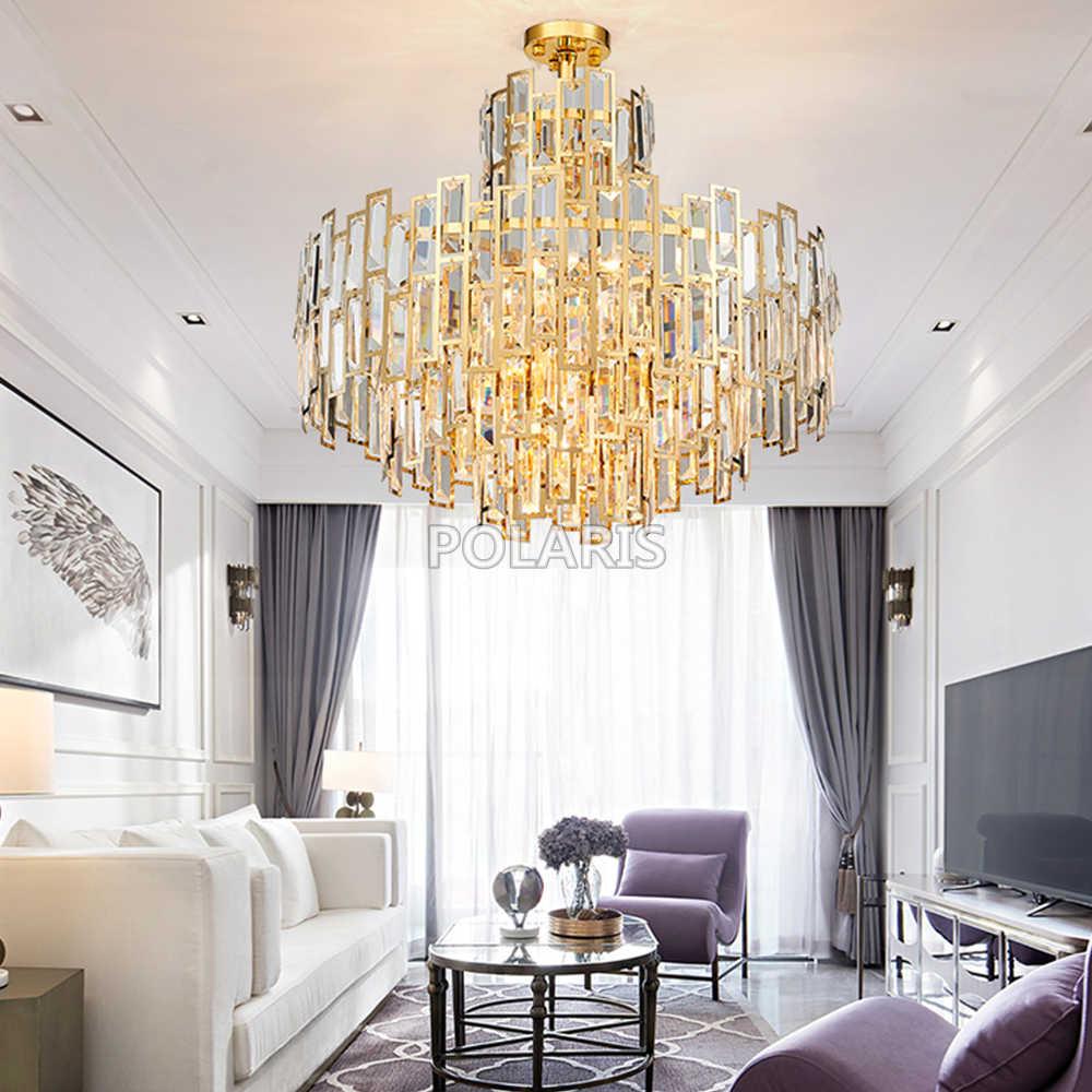 Современная роскошная хрустальная люстра светильник современные люстры подвесной светильник для Декор для дома ресторана