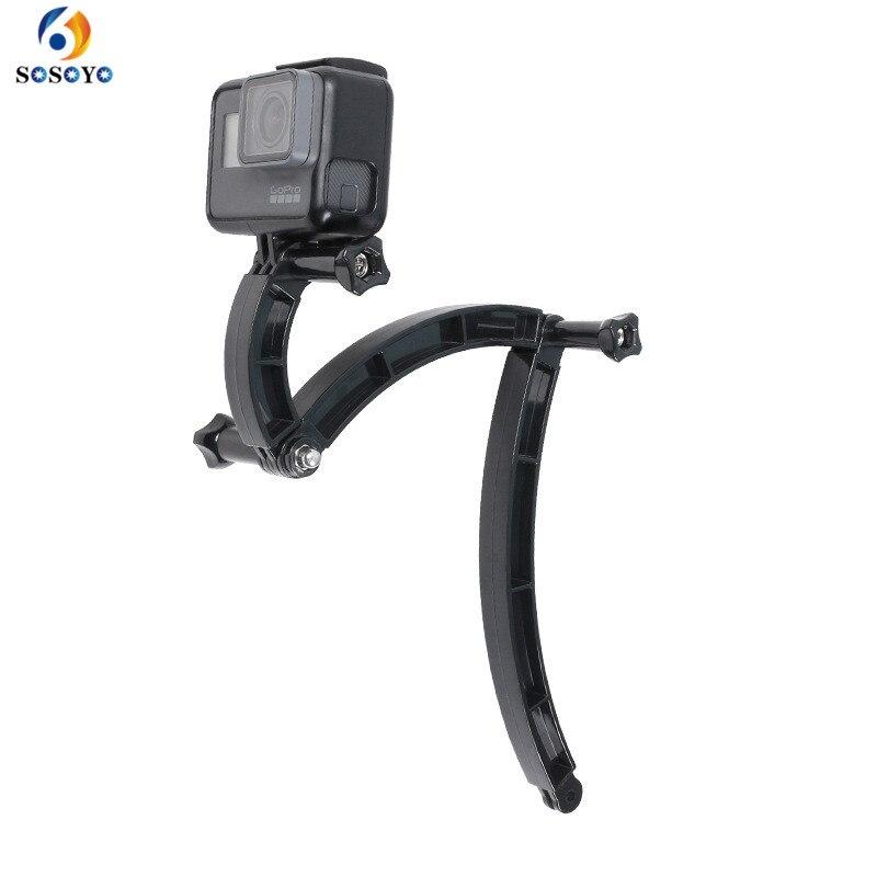 3 Ways Helmet Extension Arm Motorcycle Helmet Bracket Adjustable Rod For GoPro Hero 7 6 5 4 3 Xiaomi  Yi Camera Accessories
