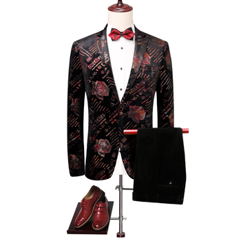 good quality slim fit men suit jackets and pant plus size 5xl luxury wedding groom tuxedos single button