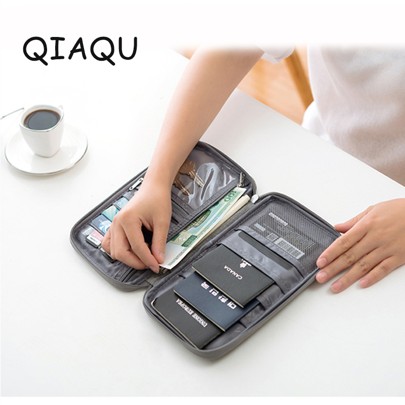 QIAQU New Cation Fabric Cover Credit ID Card Travel Organizer Passport Card Holder Package Credit Card Travel Accessories
