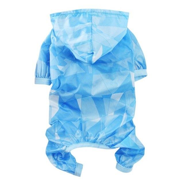 Pet Dog Cappotto di Pioggia giacca Impermeabile di Protezione Del Sole Vestiti D