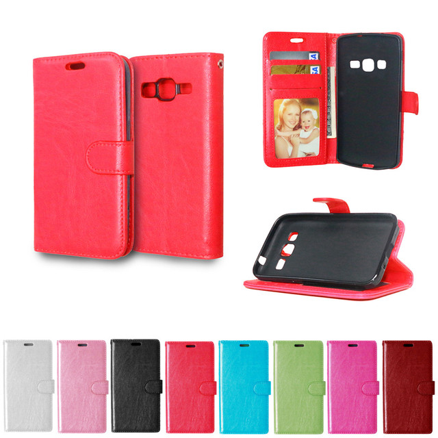 Flip Case For Samsung Galaxy Core Prime G360 G361 SM-G360F SM-G361F SM-G360H SM-G361H SM-G360P Photo Frame Leather Phone Cover