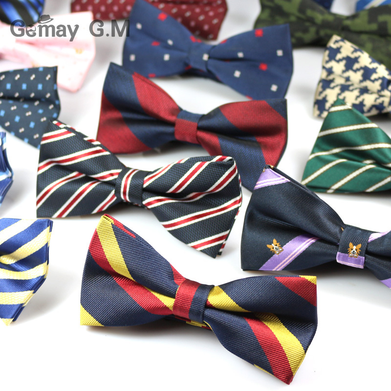 Fashion Striped Men Bowtie Brand Popular Apparel Bowties Classic Business Suits Bowknot Bow Tie Ties Wedding Party