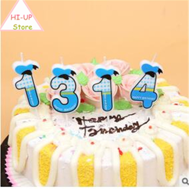 1pc Creative Boys And Girls Happy Birthday Candle Design 0 9