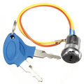 Ignition Key Switch Lock Electric 2 Wires 2 Key Mini Kart ATV Dirt Scooter Bike