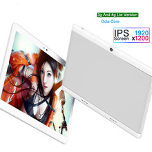 free delivery 10 inch Octa Core 4G LTE smartphone Tablet pc 4G RAM 64G ROM 1920*1200 IPS Android 7.0 WIFI bluetooth GPS tablets