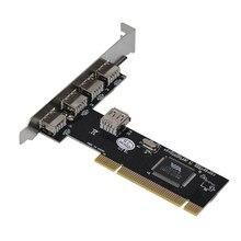 Надежный USB 2.0 4 Порт 480 Мбит/С Высокой Скоростью ЧЕРЕЗ КОНЦЕНТРАТОР PCI Контроллер Карты Адаптер Поддерживает до 127 устройств