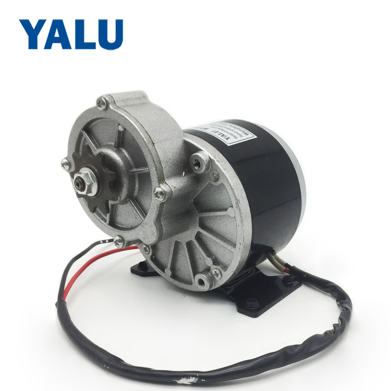 YALU MY1016Z 250W 12V Toy Car DIY Permanent Magnet DC motor Brush Geared Electric Bicycle Conversion Kit Parts Ebike DC motor
