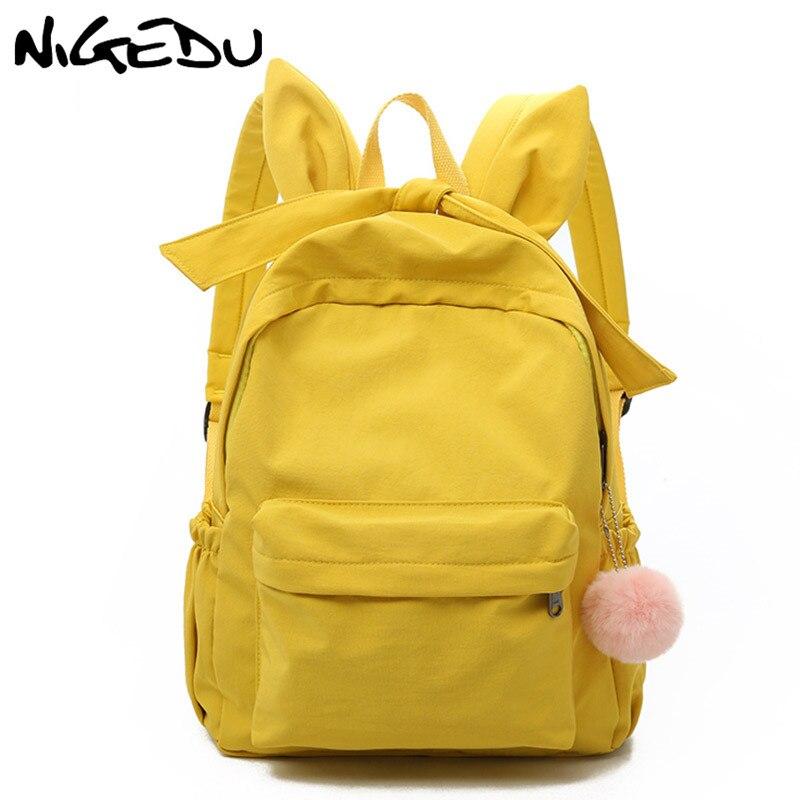 77bcc8dbf470 Detail Feedback Questions about Cute ear woman backpack Large capacity  Waterproof nylon travel backpack female harajuku schoolbag For Teenage Girls  mochila ...