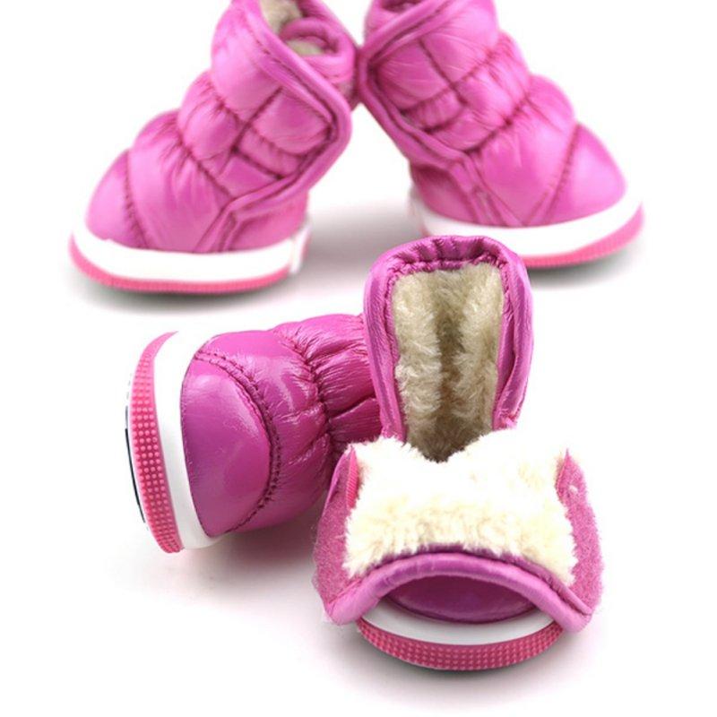 Trendy Winter Ruffle Soft PU koža Pet Mali Psi Booties Čizme za - Kućni ljubimci - Foto 2