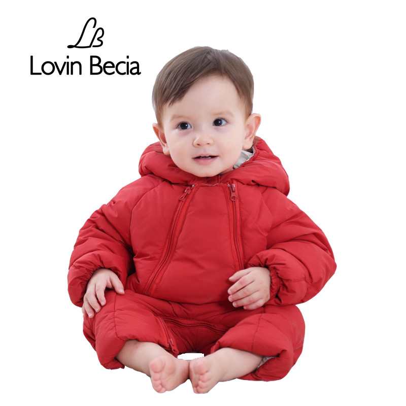 Lovinbecia baby jumpsuit winter snowsuit Kids jacket girls boys clothing sets overcoat outdoor warm coat Hooded children Rompers