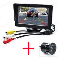 4.3 Inch Car Monitor TFT LCD display with Waterproof CCD Auto Parking Reversing Backup Rearview Camera