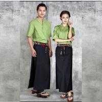 Summer Japanese cuisine waitress uniform Kitchen Chef uniform Summer T shirt Tops