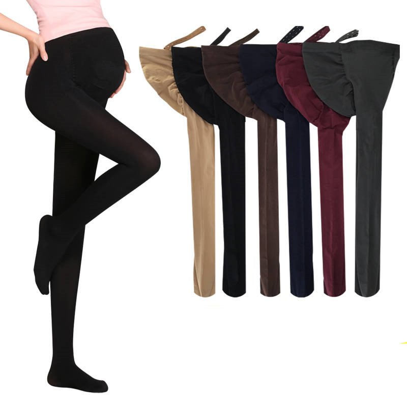 HTB1t8MjqyAnBKNjSZFvq6yTKXXak - 320D Women Pregnant Socks Maternity Hosiery Solid Stockings Tights Pantyhose Spring and autumn pregnant women stockings