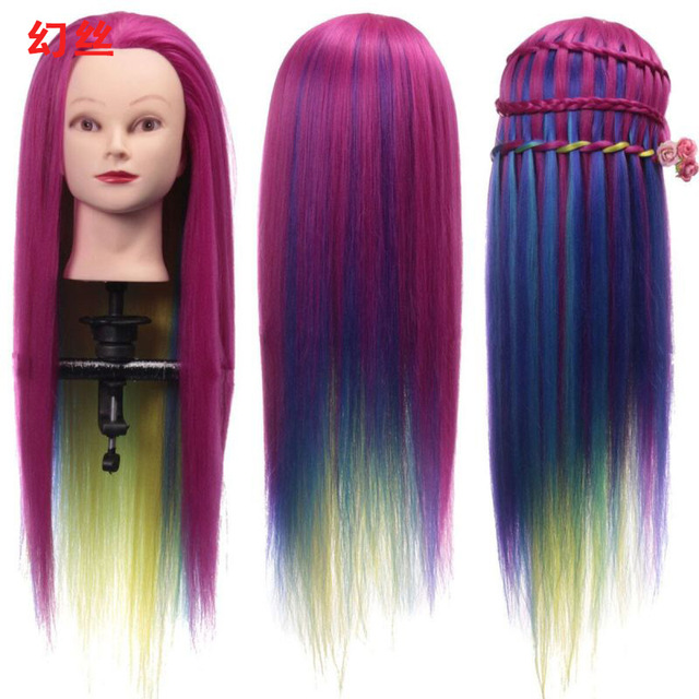 Colorful Hair Mannequin Head Hairstyles Hairdressing Doll Heads ...