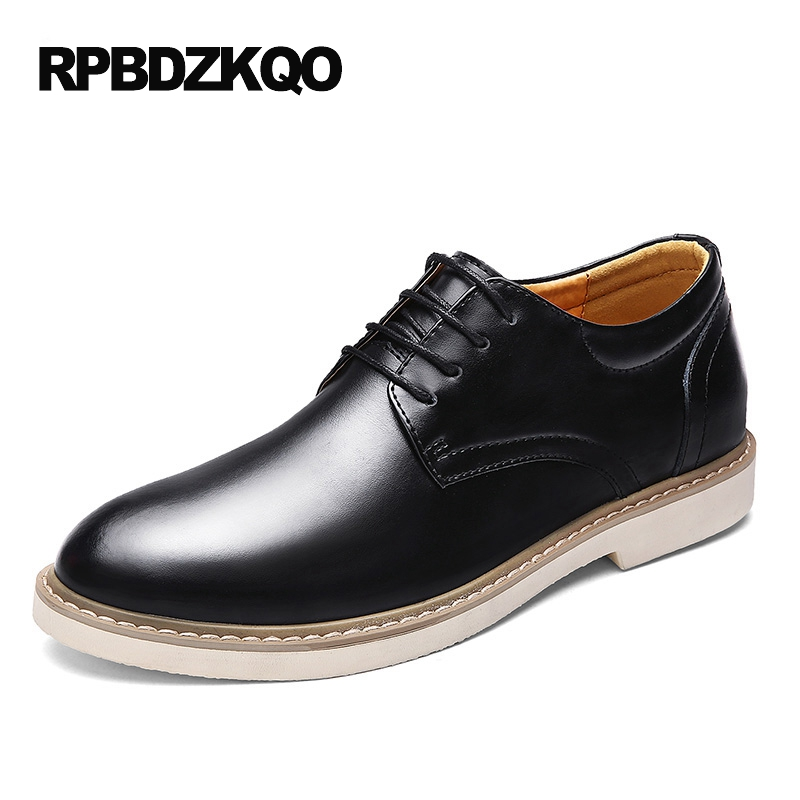 Brown Business Elevator Tan Casual Office British Style Men Comfort Black Rubber Sole Dress Shoes Height Increasing European стоимость