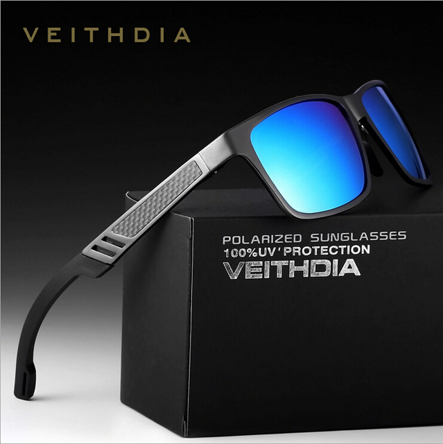 b6ebe6ac94d8db VEITHDIA Originele Merklogo HD Aluminium Magnesium Mannen Spiegel Rijden  Goggles Oculos De Sol Gepolariseerde Zonnebril 6560