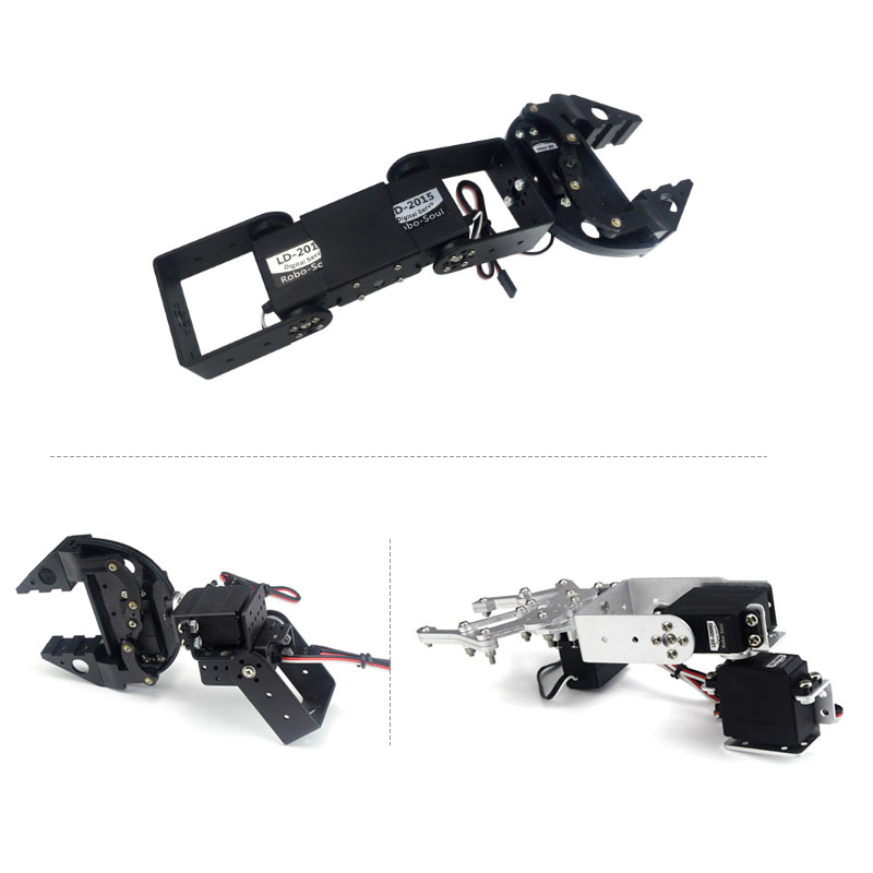 купить 1set 4 DOF Industrial Robot Arduino Arm Servo Hand Claw Mechanical Kit Accessory DIY Remote Control Robot Toy #RBP088 недорого