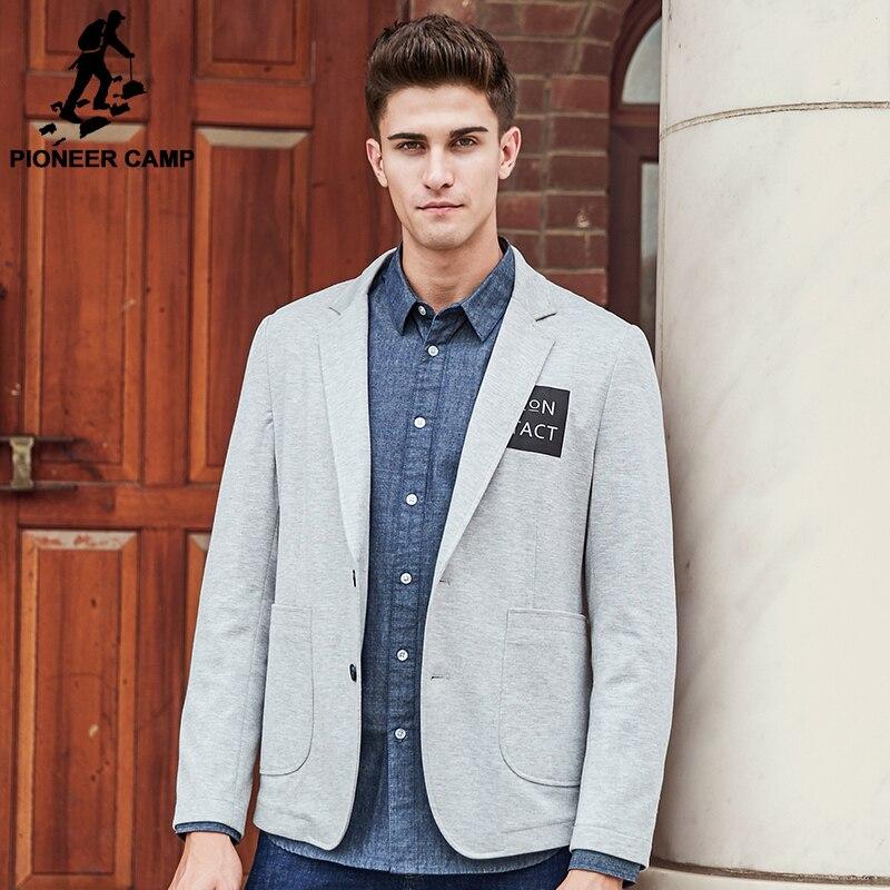 Camp pionnier marque vêtements blazer hommes de haute qualité mode casual blazer masculino slim fit designer confort costume hommes 699075