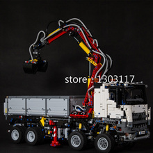 2793pcs NEW LEPIN 20005 technic series Mercedes-Benz Arocs Model Building blocks Bricks Compatible with Toy for Children 42023