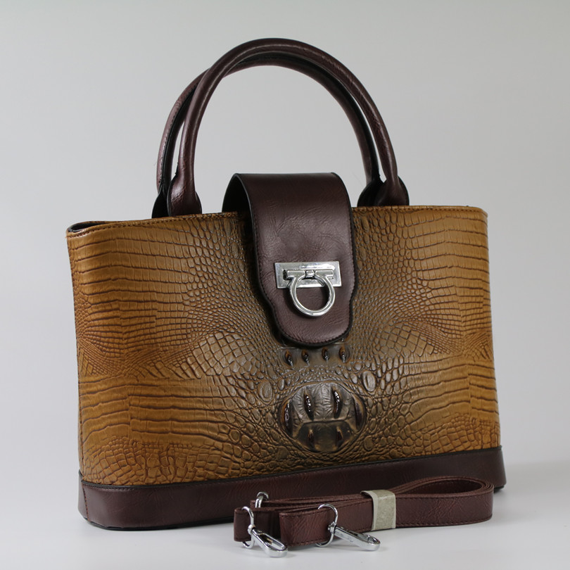 Fashion Crocodile Pattern Leather Women handbags\bag Designer ladies' Tote Bags\Shoulder Bags~17B11 aosbos fashion portable insulated canvas lunch bag thermal food picnic lunch bags for women kids men cooler lunch box bag tote