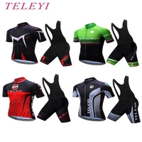 Summer Cycling Jersey shorts Set Breathable Racing Bicycle Cloting Quick Dry Bib GEL MTB Bike T shirt Pants