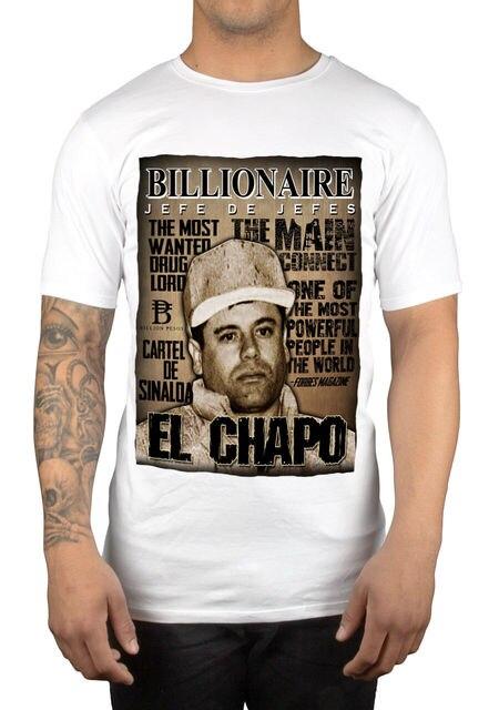 2019 vendas quentes camisa de t do verão dos homens do senhor da droga jaoquin guzman da prisão