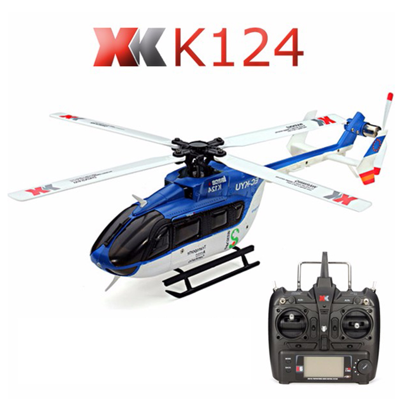 Original XK K124 6CH Brushless motor 3D 6G System RC Helicopter RTF Compatible with FUTABA S-FHSS  Quadcopter Dron  Professional original xk k124 bnf without tranmitter ec145 6ch brushless motor 3d 6g system rc helicopter compatible with futaba s fhss
