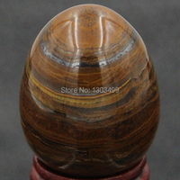 Free Shipping Natural Gemstone Iron Tiger Eye Sphere Egg Chakra Healing Reiki Stone Carving Crafts W