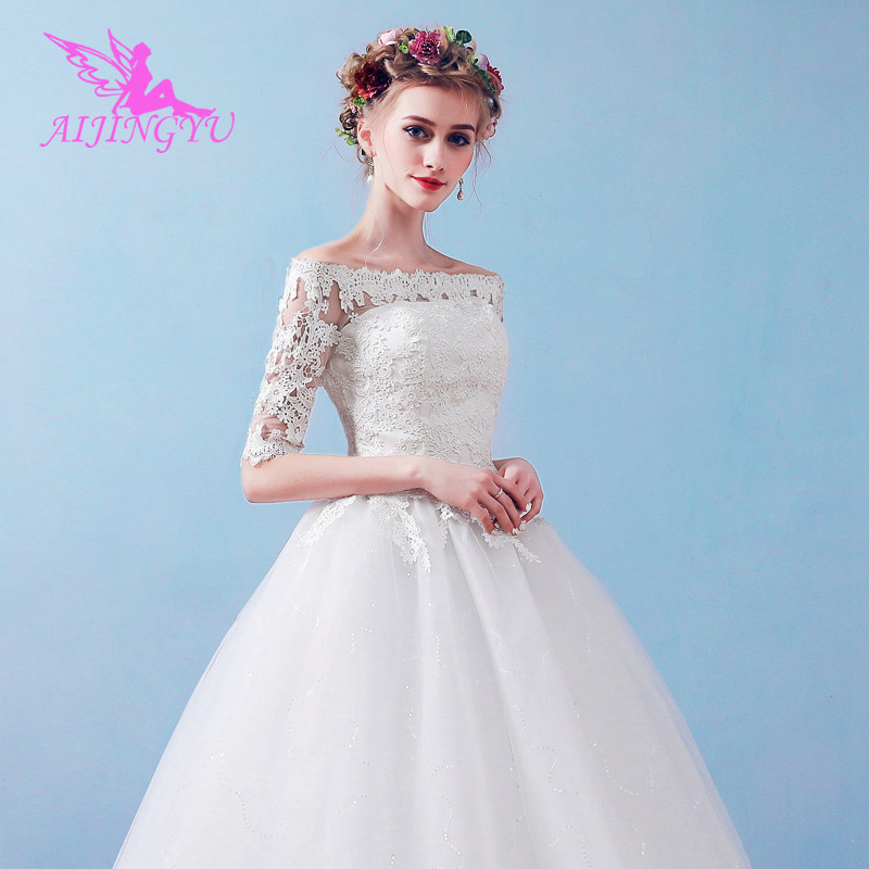 AIJINGYU 2018 ivory free shipping new hot selling cheap ball gown lace up back bride dresses wedding dress FU227