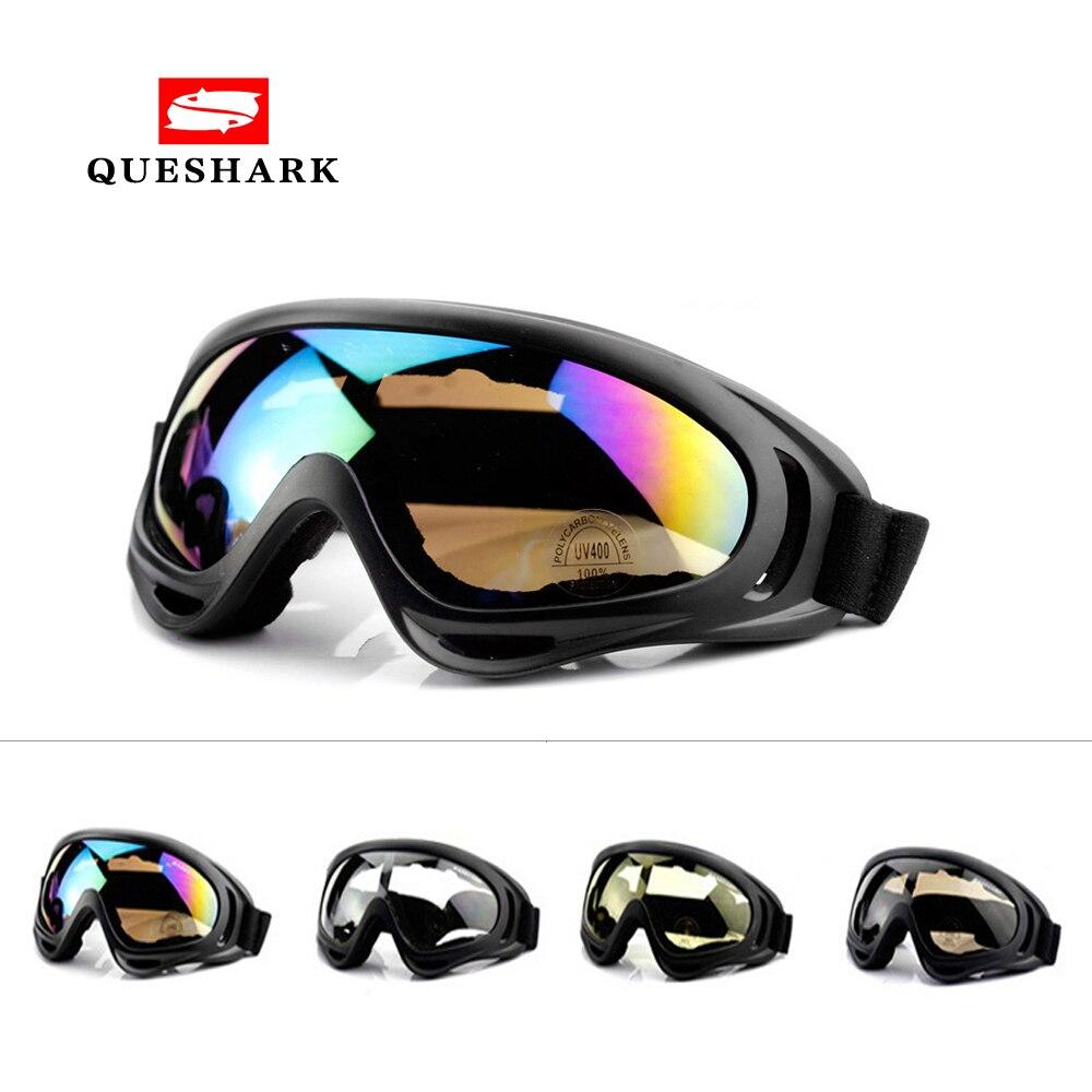 Queshark Высокое качество зимние спортивные ветрозащитные лыжные очки UV400 пылезащитные лыжные Солнцезащитные очки велосипедные очки