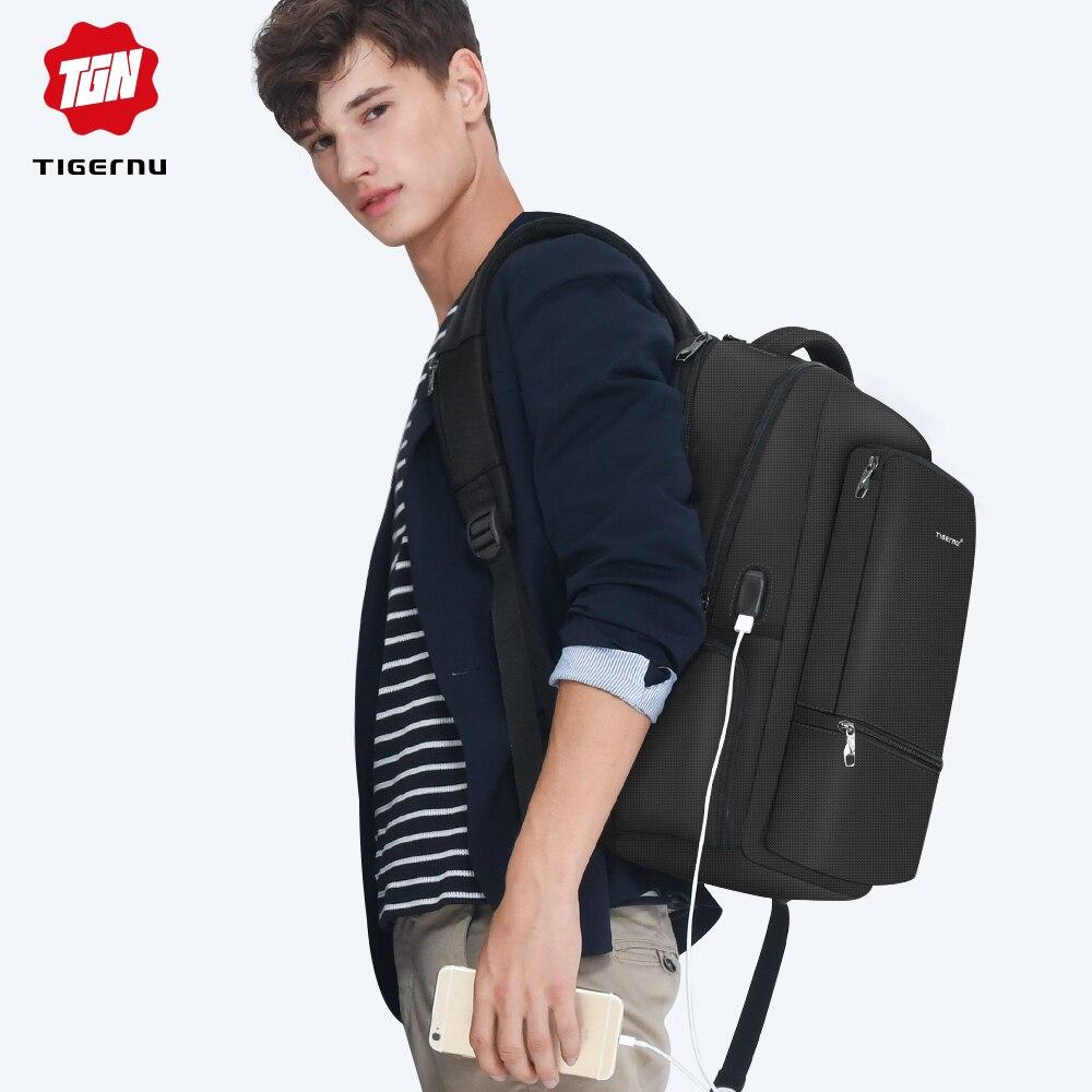 Tigernu Waterproof Nylon Travel Backpack Men s Backpacks for 15 6 Laptop Women Notebook Mochila Leisure