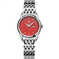 Top Brand Luxury Waterproof Women Watches Women Quartz Hours Date Clock Ladies Casual Wrist Watch Female Silver relogio feminino