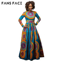 FANS FACE African Dresses New African Fashion Soft Sleek Material Embroidery Dress Design Long Dress