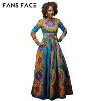 FANS FACE African dresses new african fashion soft sleek material embroidery dress design long dress