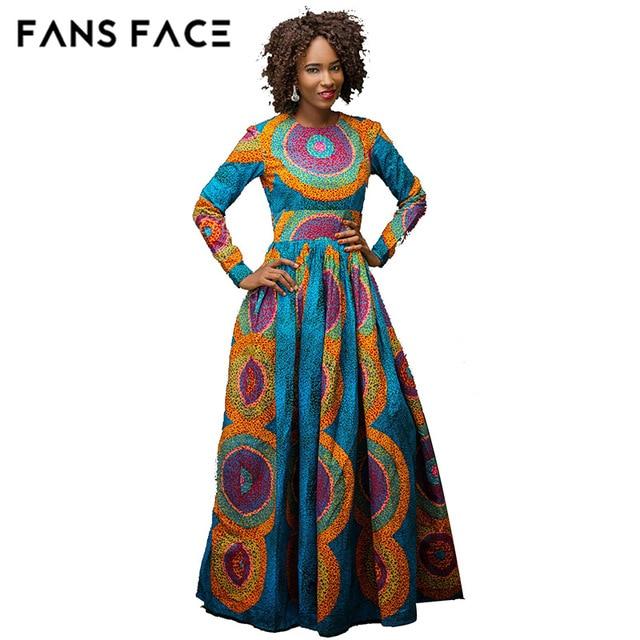 b7e13e60eda4 FANS VISO abiti Africani new african fashion materiale morbido elegante ricamo  del vestito da disegno vestito