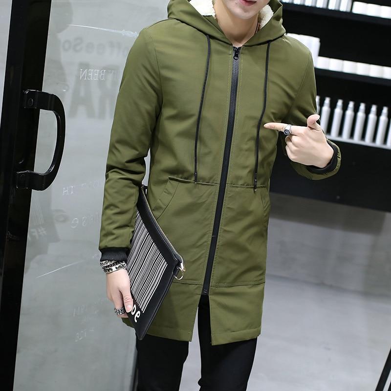 100% QualitäT Herren Windbreaker Parkas Baumwolle Jugend Kleidung Winter Jacke Männer Mit Kapuze Dünne Koreanische Parka Hombre Lange Jacke Mantel Kaschmir Verpackung Der Nominierten Marke